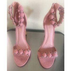 Brand New LILIANA Pink Suede Heels